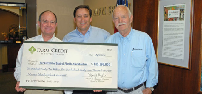AgriNews: Farm Credit of Central Florida declares 2014 patronage refunds to members