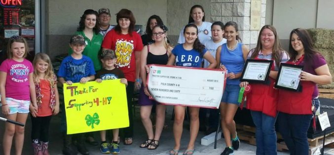 Bartow Tractor Supply store wins class award for efforts in 4-H fundraising campaign