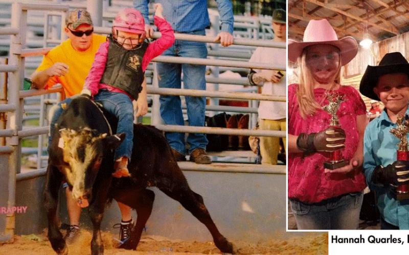 Little Hannah, get your saddle