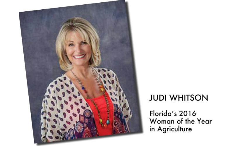 Commissioner's AgriCorner: Judi Whitson is the 2016 Woman of the Year in Agriculture